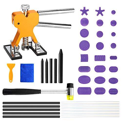 Paintless Dent Repair Tool Dellenentfernung Reparatur-Kit 43pcs Auto Dent Lifter Hammer Tap Down Tools Mixed Ziehen Zeichnung Dichtung Kleber Tab -