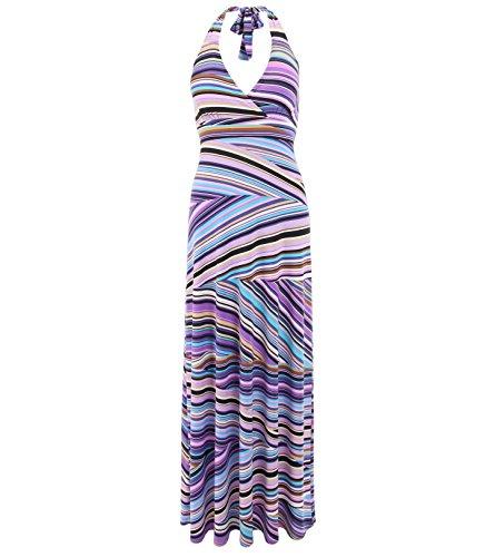 Blue Banana - Violett gedruckt Maxi Kleid Violett