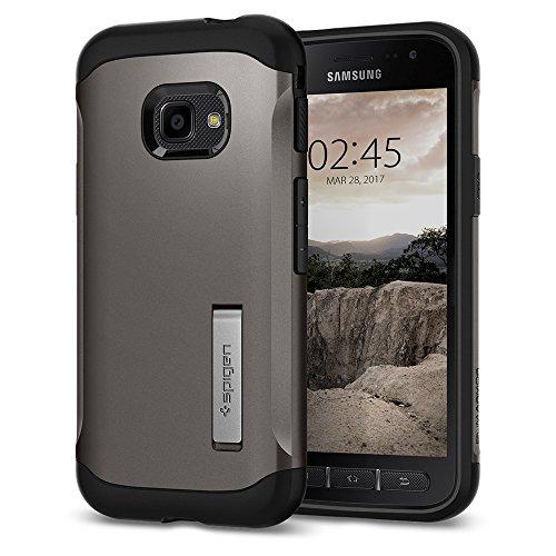 Spigen 585CS21819 Slim Armor für Samsung Galaxy Xcover 4 / 4s Hülle Integrierter Kickstand Case - Gunmetal