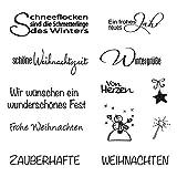 Rayher 59841000 Clear Stamp Weihnachten/Winter, 96,5x91x3,2mm