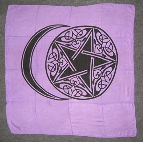 Crescent Moon Pentagram Altar Tarot