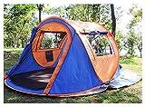 TENTLMK È adatto a viaggiare all'aperto con le tende di lancio della doppia porta e della doppia finestra. (colore : Orange, dimensioni : 250 * 148 * 110cm.)