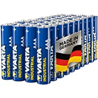 Varta Industrial Battery AAA Micro Alkaline Batteries LR03 - pack of 40, Made in Germany