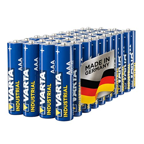 Varta Industrial Batterie AAA Micro Alkaline Batterien LR03, Made in Germany, 40er pack
