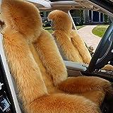Accessori per auto Interno di automobile Cuscino |Lana spessa lana peluche coperta di lana |Usato for l'automobile la decorazione e caldo d'inverno Protezione Set Mat (Color : Camel)