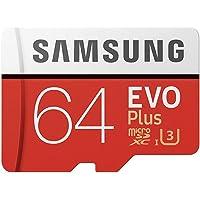 (Renewed) Samsung EVO Plus 64GB microSDXC UHS-I U3 100MB/s Full HD & 4K UHD Memory Card with Adapter (MB-MC64HA)