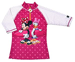 Swimpy Girl's UPF 50 + T-Shirt de bain anti-UV pour fille Motif Minnie Mouse Noir 3–4 ans/98 noir Noir 3 - 4 Years/98 - 104 cm