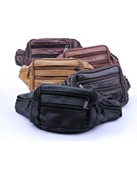 Buyworld 2017 Cowhide Genuine Men Waist Packs Fanny Pack Belt Bag Phone Pouch Bags Travel Pack Male Small Waist...