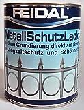 Feidal Metallschutzlack , 3 in 1 Rostschutz , Grundierung u. Lack in einem ,...