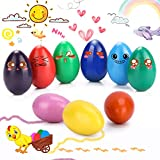 WOSTOO Crayons for Kids, Palm Grip Crayons Set 9 Colors Non-Toxic Crayons Washable Paint Crayons Educational Learning Drawing Pen Toys for Kids Infants, Baby, Children, Boys and Girls (Egg-Shaped)