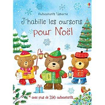 J'habille les oursons pour Noël - Autocollants Usborne
