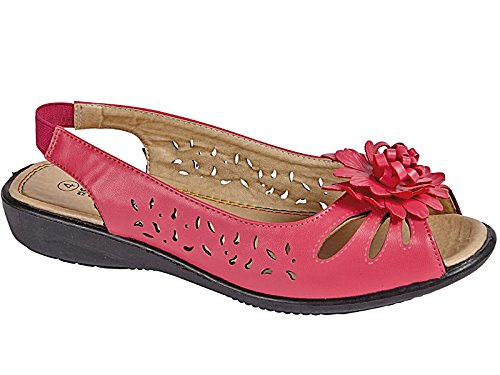 Foster Footwear - Peep-Toe donna Hot Pink