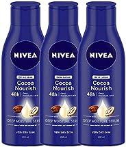 NIVEA Cocoa Nourish Oil In Lotion, 200ml (Pack Of 3)