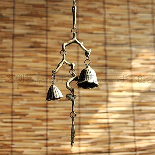 Antike Kupfer-zweig (XMUMA Zweige, Windspiele, Glocken, Schmiedeeisen, Südliche Gusseisenverzierungen, Ornamente, Antike Kupferdekorationen, Zuhause - Gesamtlänge 46 Cm)