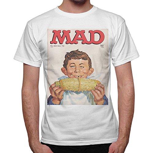 T-Shirt Uomo Magazine Mad Funny Kids - Bianco