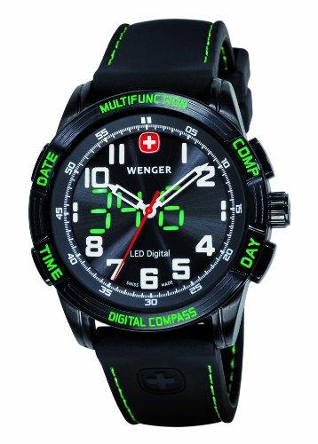 Wenger Herren-Armbanduhr XL Analog – Digital Quarz Silikon 70433