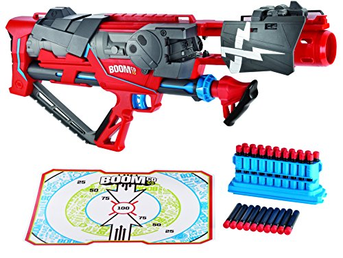 Boomco-Toy-Rapid-Madness-Blaster-Includes-30-Darts-and-Gun-Clip-50-Feet-Range