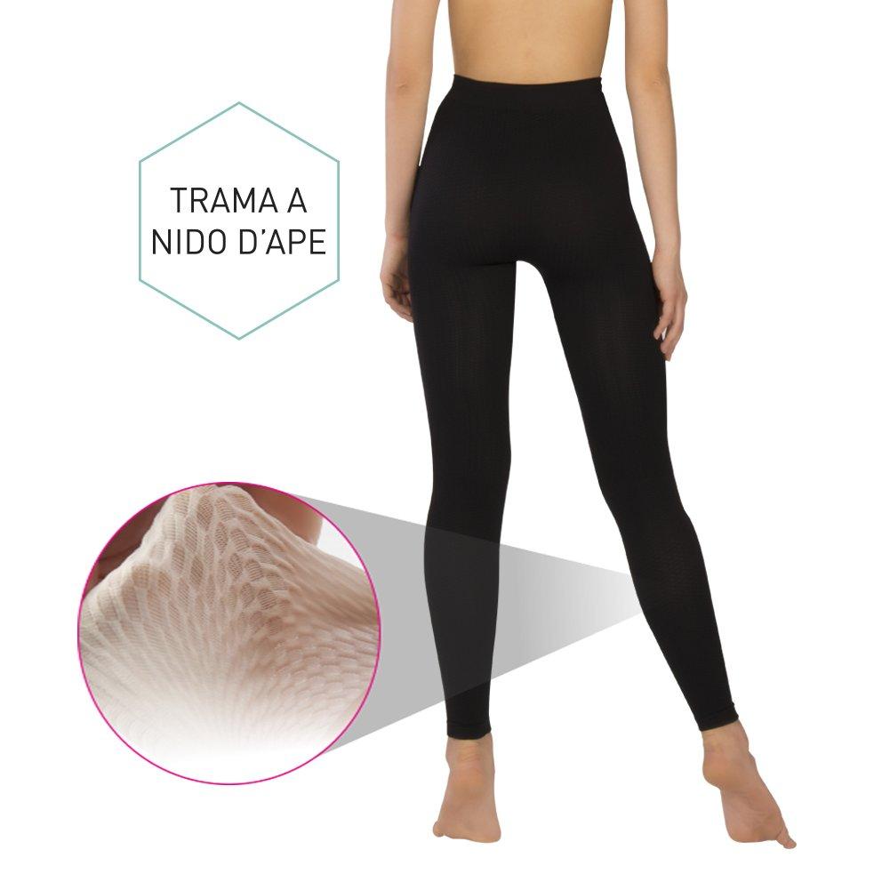 Body/&Co Legging Sportivo Vita Alta Anticellulite con Azione Massaggiante