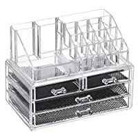 Feibrand Acrylic Makeup Drawer Organiser 20 Sections for Makeup Sets