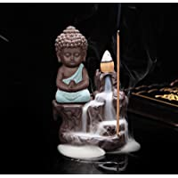 Mayco Bell Little Monk Incenso fornace Porcellana Porta Incenso Incenso Incenso Bruciatore a riflusso Incenso Cono…