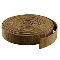 ASIV 10m x 25mm Nylon Heavy Webbing Strap for DIY Craft Backpack Strapping Apron Bunting, Kaki