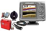 Lowrance Hook-5x Echolot (83/200 + 455/800 kHz) Portabel Set-3