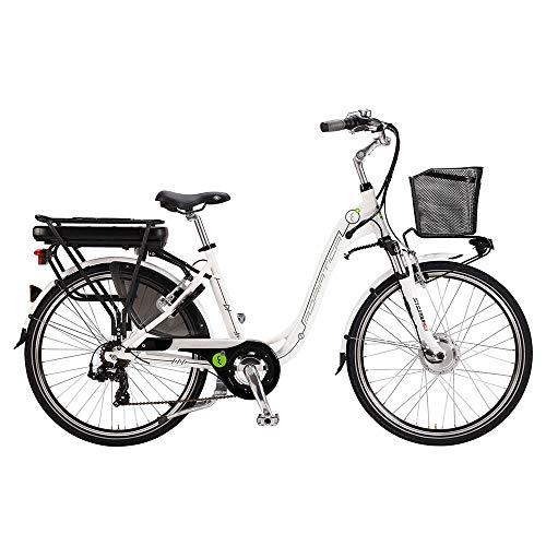 """Bicicletta Elettrica a Pedalata Assistita Da Donna 28\"""" H45 250W Cicli Adriatica E-Bike E1 Lady Bianco"""