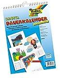 Dauerkalender mit Spiralbindg. zum Selbergestalten A4, weiss