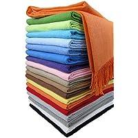 Amazon.fr   Orange - Couvertures, plaids et boutis   Linge de lit et ... 1d1d4c988c1