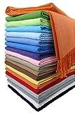 STTS International Baumwolldecke Wohndecke Kuscheldecke Tagesdecke 100% Baumwolle 130 x 170 cm sehr weiches Plaid Rio Alle Farben (Orange)