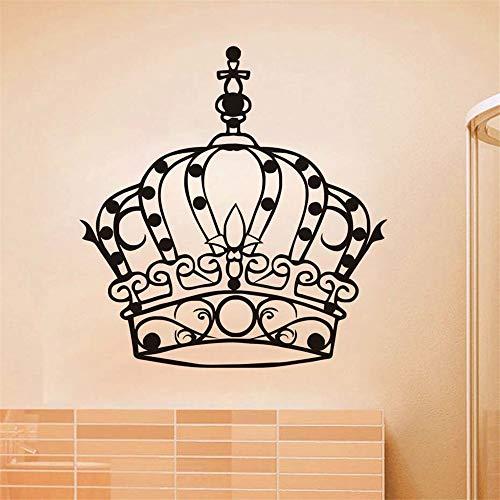 Wandtattoo Schlafzimmer Beliebteste aushöhlen Prinzessin Krone für Kinderzimmer Mädchen Schlafzimmer Home ()