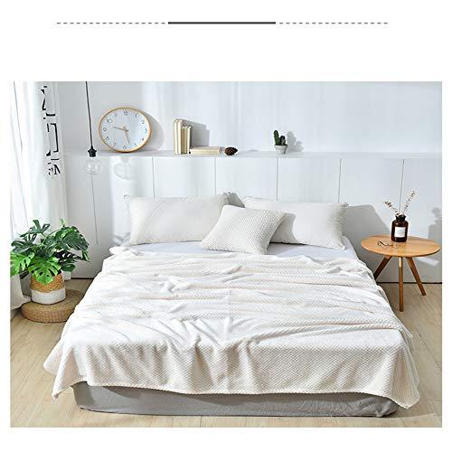 NA MYBH Manta para el hogar Tapiz de Terciopelo Beibei Tapicería Que Cubre el sofá Sofá Cama Final de la Cama Manta de la Cama Banner Hotel Manta de Tela Modelo Habitación Manta Blanco 200 * 230cm