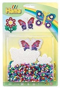 Hama 10.4207 - Juego de Cuentas de Mosaico (tamaño Grande), diseño de Mariposas