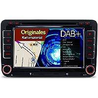 A-Sure 7 Zoll 2 Din DAB+ Autoradio Navi DVD GPS BT Radio RDS Für VW Touran Tiguan Multivan T5 Passat Golf 5 6 Polo Jetta Caddy Skoda Seat Altea original Kartematerial (49 europäische Länder)W4W7AQ