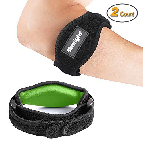 Epicondylitis Spange, 2 Stück Bandage Tennisarm für Schmerzlinderung, Bandage Ellenbogen Medizinisc für Tennis Elbow und Baseball-Hände, Grün