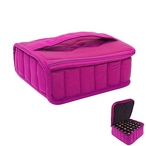niceEshop(TM) Sac de Stockage et Sac de Rangement Portable avec 30 Compartiments pour Bouteilles d'Huile Essentielle (Rose Rouge)