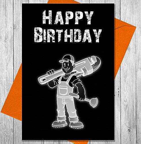 John Deere Scraper (Geburtstagskarte Heimwerker–Einzigartiges Kreidetafel Effekt Grußkarte)