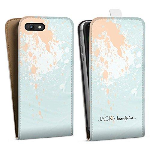 Apple iPhone X Silikon Hülle Case Schutzhülle Farbklecks Farben Klecks Downflip Tasche weiß