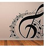 Adesivi murali Notazione musicale Adesivo murale Musica Decalcomania da muro Home Decor Rimovibile Wall Art Murales Soggiorno Camera dei bambini Decorazione di vivai 58x58 cm
