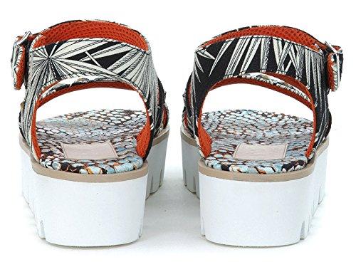 Sandales MSGM pour femme en tissu multicolore - Code modèle: 1841MDS62 021 Multicolore