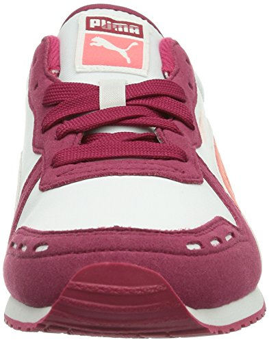 Puma Cabana Racer Sl Jr, Baskets mode mixte enfant Rouge (Cerise-White-Dubarry 29)