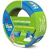 ScotchBlue 20933650 Malerabdeckband (Malerkrepp) optimale Klebkraft auf glatten Oberflächen, 36 mm x 50 m, blau