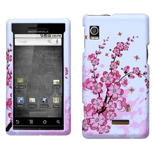 Hartschalenhülle für Motorola A855 Droid Spring Flowers