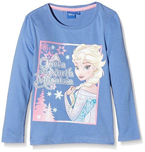 Disney Mädchen T-Shirt Frozen Family Forever Blau-Blau, 4 Jahre (Disney Familie T Shirts)