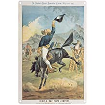 Riding the Buck Jumpers, Lord Salisbury on.. - Premium Metal Sign 20x30cm gloss finish advertising signs - Art247