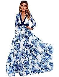 Irina007 2017Mujer De Largo Maxi Vestido De Fiesta De Las Damas De Verano Bohemio Vestido De Impresión