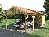 Carport Satteldach ZANDVOORT 350x800cm + Geräteraum Satteldachcarport