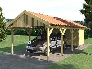 Carport Satteldach ZANDVOORT 350x800cm + Geräteraum