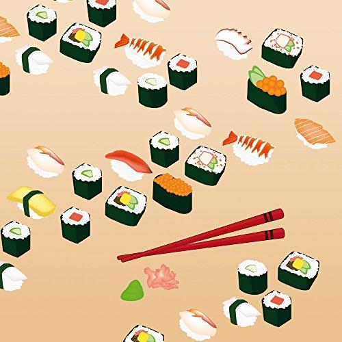 Apple iPhone 5s Case Skin Sticker aus Vinyl-Folie Aufkleber Sushi Essen Fastfood DesignSkins® glänzend