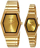Sonata Pairs Analog Gold Dial Couple's Watch - NF70838074YM02